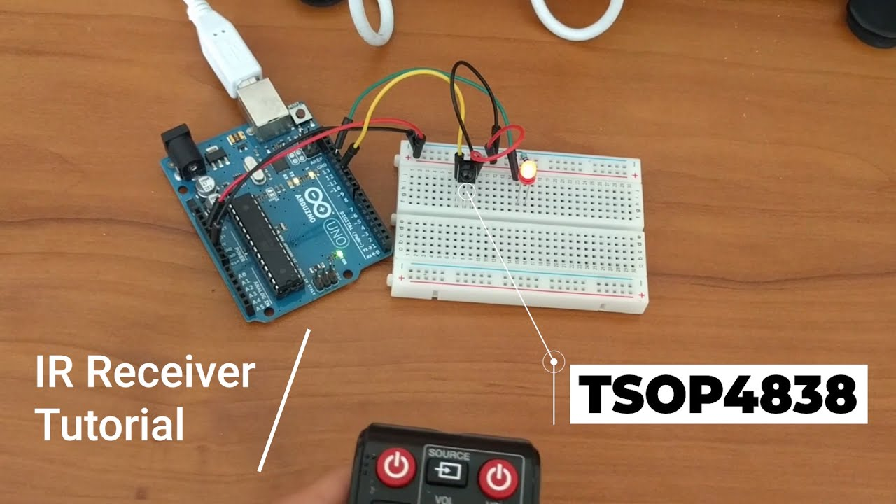 Arduino Tutorial Decoding The Tsop4838 Ir Receiver And Blinking Led Infrared Circuit W Remote Control