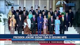 Presiden Jokowi Tiba di Gedung MPR Hadiri Sidang Tahunan MPR 2018