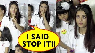 Aishwarya Rai Bachchan Cries Badly And Lashes Out At Media For Misbehaving With Daughter Aaradhya