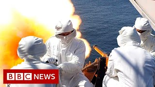 Royal Navy ships fire at sea in honour of Prince Philip - BBC News