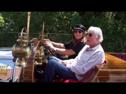 Dick Van Dyke with movie Car singing Chitty Chitty Bang Bang Danville Illinois homecoming 06/23/16