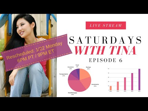 Saturdays with Tina LIVE Episode 6 (Money Management, Wealth Building)