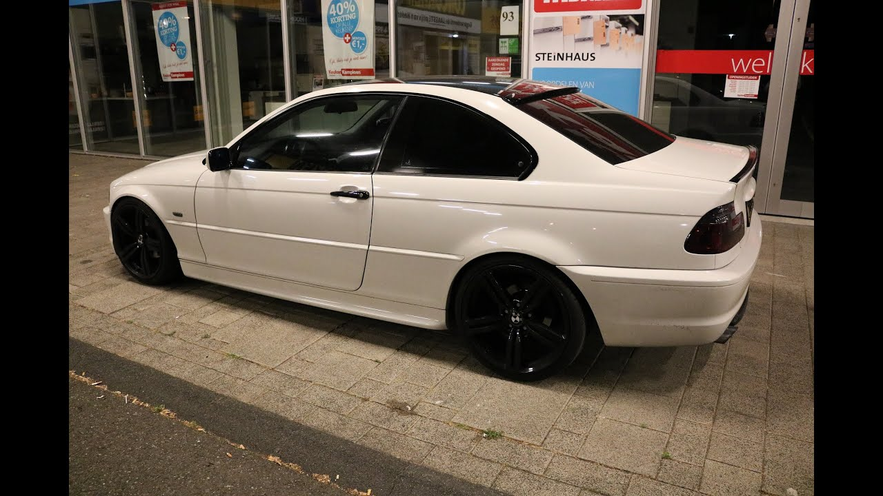 bmw e46 coupe white black youtube. Black Bedroom Furniture Sets. Home Design Ideas