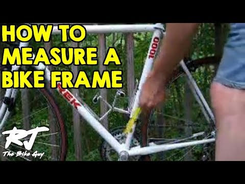 How To Measure A Bike Frame - YouTube