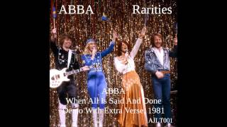 ABBA When All Is Said And Done - Demo Extra Verse [AJLT001]