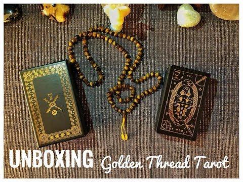 Unboxing the Golden Thread Tarot