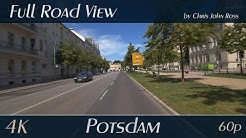 Potsdam, Germany: Zeppelinstraße, Luisenplatz, Schopenhauerstraße - 4K (2160p/60p) Ultra HD