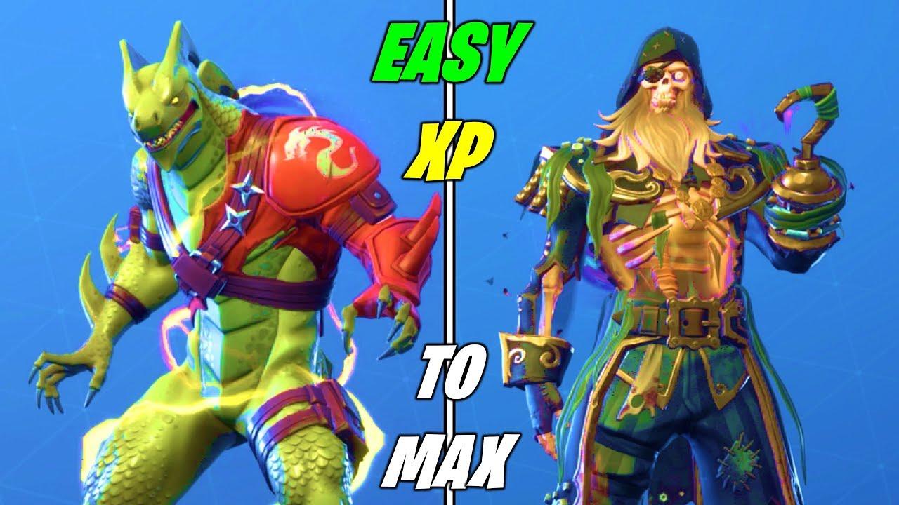 The FASTEST Method to GAIN XP for MAX SKINS in Fortnite Season 8 (Unlock  MAX Hybrid & Blackheart