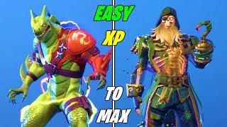El método más rápido para ganar XP para MAX SKINS en Fortnite Temporada 8 (Desbloquear MAX Híbrido & Blackheart