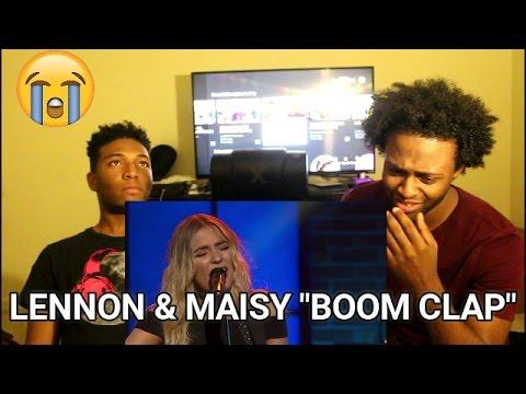 "Lennon & Maisy // ""Boom Clap"" - Live // Charli XCX (REACTION)"