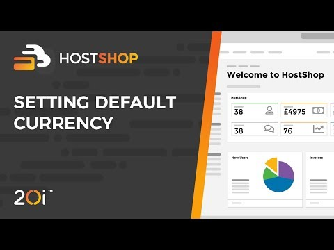 HostShop: Setting the Default Currency