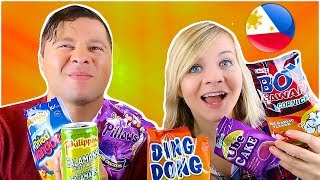 TRYING CANDY FROM THE PHILIPPINES WITH MY BOYFRIEND! // SoCassie