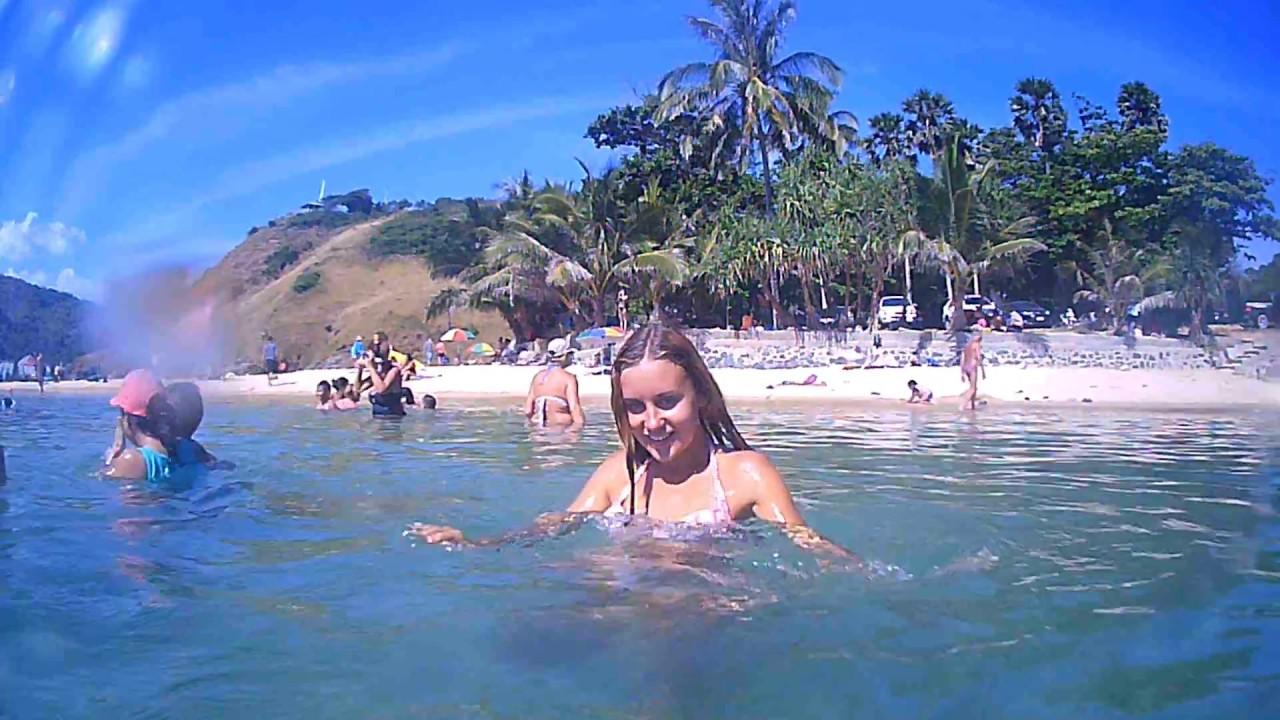Девушки тайланда на пляже