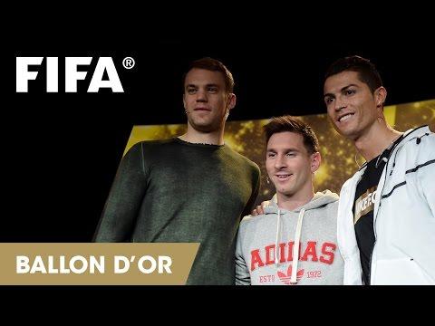 Messi, Ronaldo y Neuer FIFA Balon de Oro 2014.