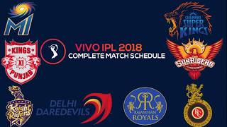 VIVO IPL 2018 Full Match  Schedule, Fixture & time Table