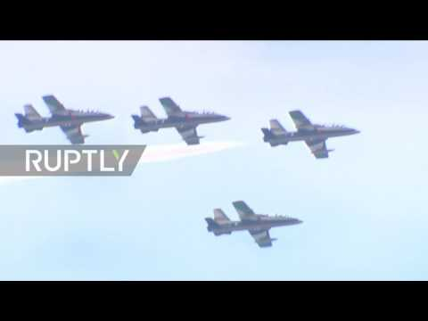 Russia: Jets perform death defying stunts in MAKS-2017 rehearsal