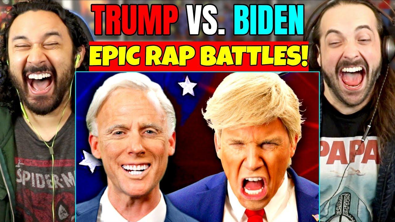 Donald Trump vs Joe Biden. EPIC RAP BATTLES OF HISTORY - REACTION!