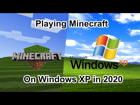 Playing Minecraft On Windows XP! (2020)