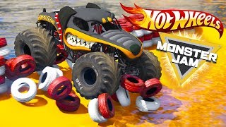 HOT WHEELS MONSTER JAM TEST PARKOUR CHALLENGE (Cars 3 Challenge)