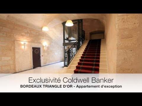 Bordeaux triangle d 39 or appartement de prestige youtube for Appartement bordeaux triangle d or