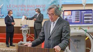 Lễ bàn giao máy thở MV20 cho Việt Nam: Giải pháp tối ưu điều trị bệnh nhân COVID-19