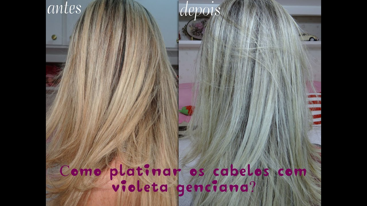 Well-known Como platinar os cabelos com Violeta Genciana - Carina Rosa - YouTube IF44