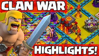 Clash of Clans Clan War Highlights ♦ Close Calls and Unusual Attacks ♦ CoC ♦