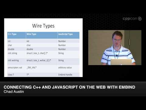 """CppCon 2014: Chad Austin """"Embind and Emscripten: Blending C++11, JavaScript, and the Web Browser"""""""