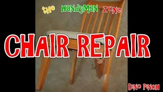 Broken Chair Repair, Cracked Chair Leg