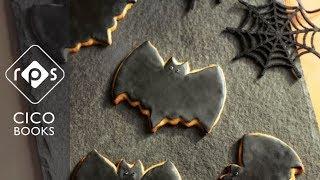 Spookily Simple Butter Cookie Bats - Halloween Kids Baking Recipe