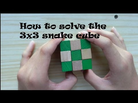 Easiest Way On How To Solve The 3x3 Snake Cube Read Description