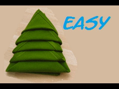 - How To Fold A Napkin Christmas Tree Easy. (Full HD) - YouTube
