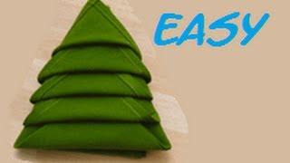 How To Fold A Napkin Christmas Tree Easy. (full Hd)