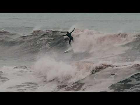 Surfing Hurricane Jose in Rhode Island