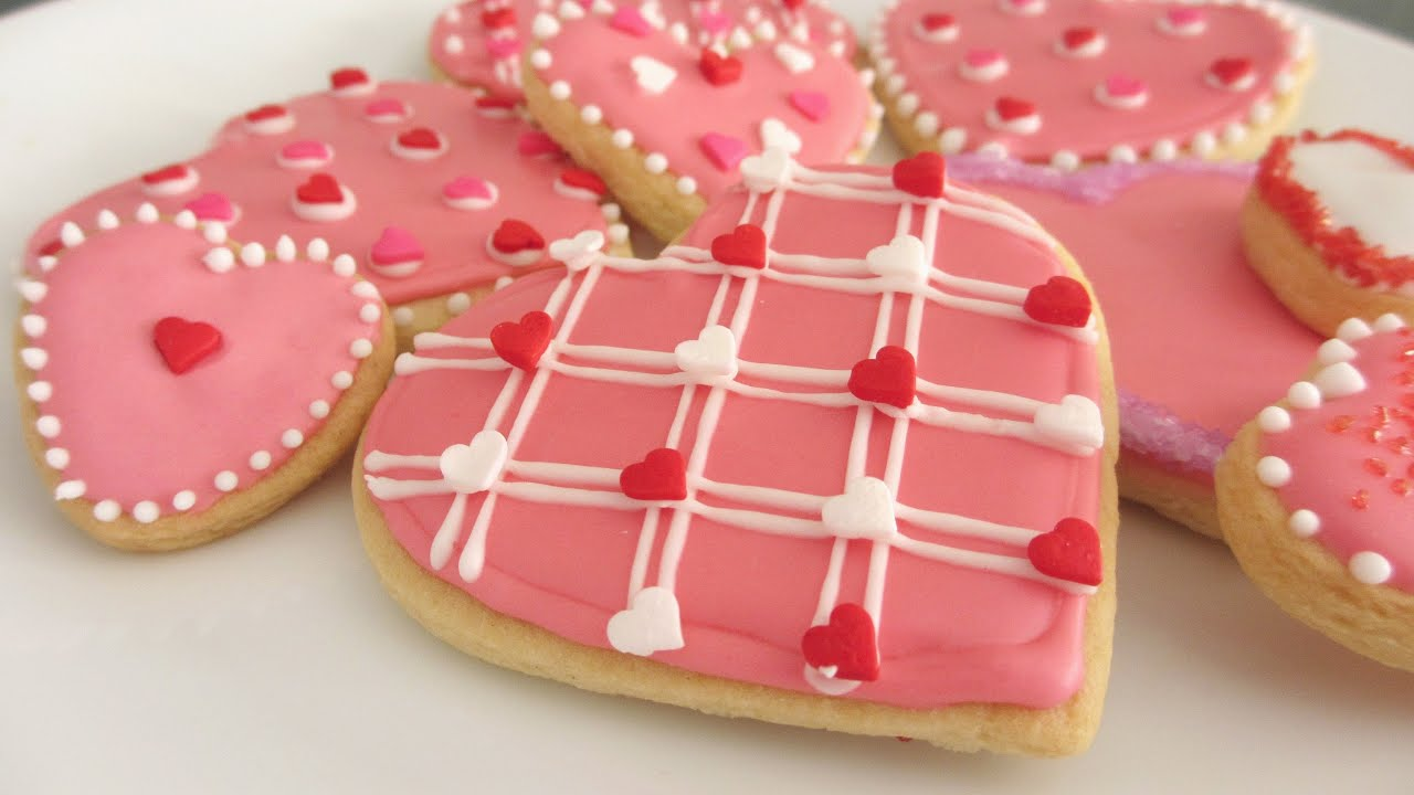 valentines day cookie decorating ideas youtube - Cookie Decorating