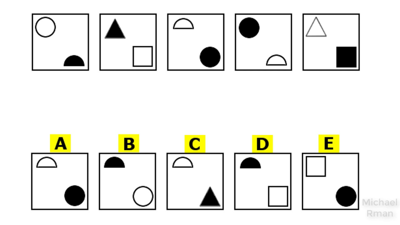 Abstract Reasoning Psychometric Practice Test Examples 1