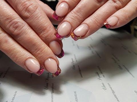 Ногти цветной френч