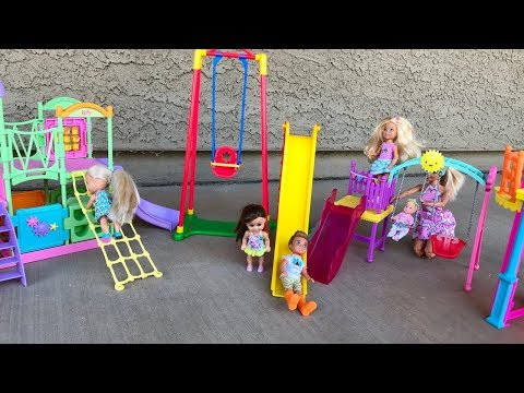 Barbie doll PARK sets! Day at the PARK!