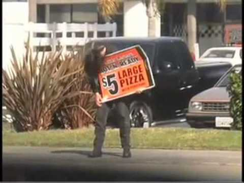 Metal Head Sign Flipper Rocks The Streets Of Oceanside