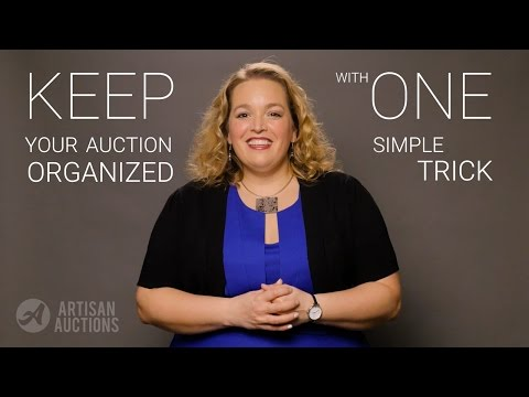 Keep Your Auction ORGANIZED With One Simple Trick