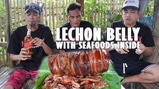 6 KILOS LECHON BELLY WITH SEAFOODS INSIDE | JOHNNY WALKER RED LABEL