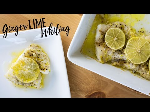 Baked Ginger Lime Whiting | Keto Lime Fish Recipe