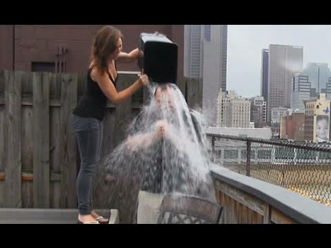 #icebucketchallenge Benny gets ice-cold water poured on his head