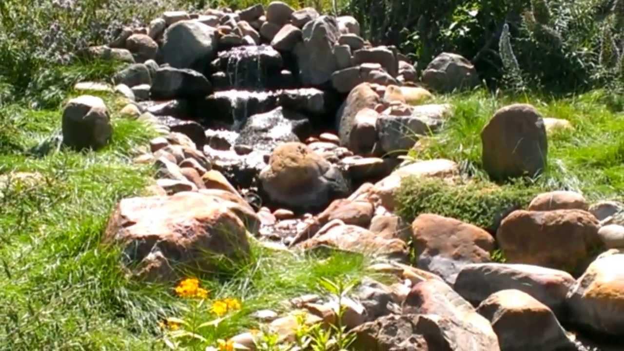 Beau Waterfall At Manhattan Beach Botanical Garden   YouTube