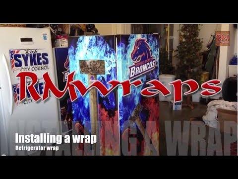 How To Install Refrigerator Wrap Rm Wraps Com Youtube