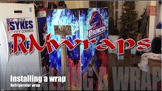 How To Install Refrigerator Wrap - Rm Wraps.com
