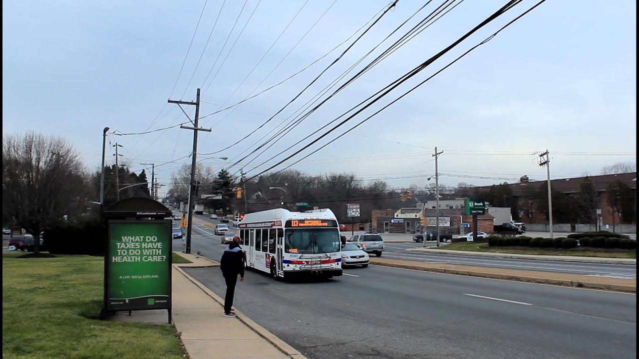 Septa Bus 69th St Transit Center Bound De40lfr Route 113