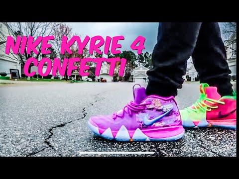 promo code 11d72 bdbcf Nike Kyrie 4 Confetti - SneakerExit Atlanta - YouTube