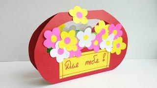 Весенние поделки из бумаги своими руками. Как сделать подарок маме, учителю в школу.