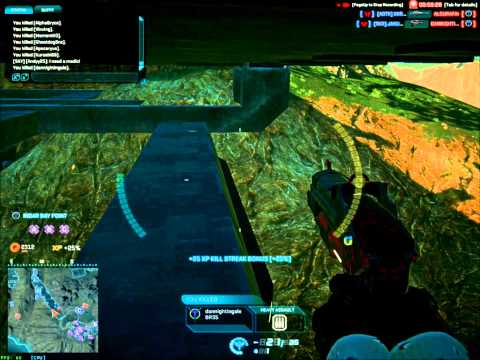 Hit and run tactic with the light assault. [Planetside 2]